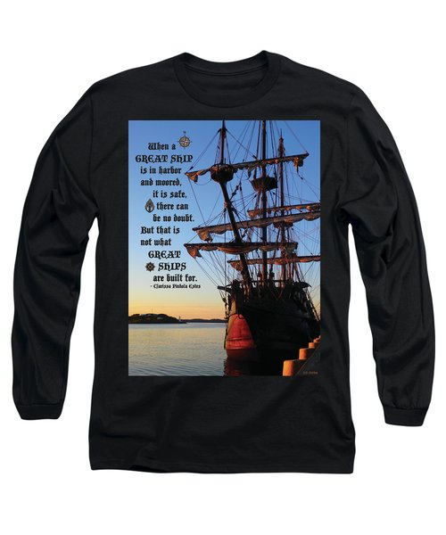 Celtic Tall Ship - El Galeon In Halifax Harbour At Sunrise Long Sleeve T-Shirt