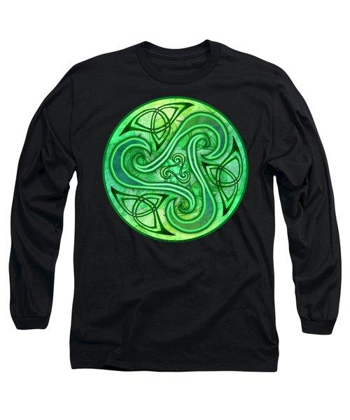 Celtic Triskele Long Sleeve T-Shirt by Kristen Fox