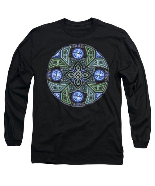 Celtic Ufo Mandala Long Sleeve T-Shirt by Kristen Fox