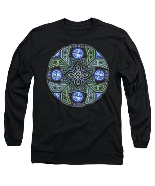 Celtic Ufo Mandala Long Sleeve T-Shirt