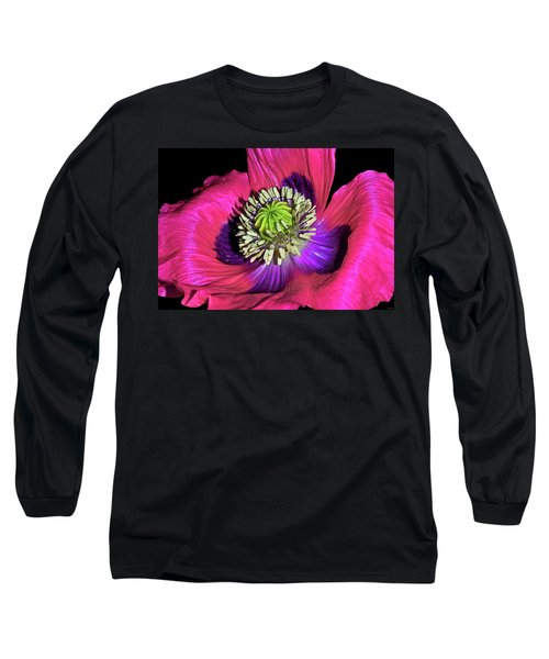 Centerpiece - Poppy 020 Long Sleeve T-Shirt by George Bostian