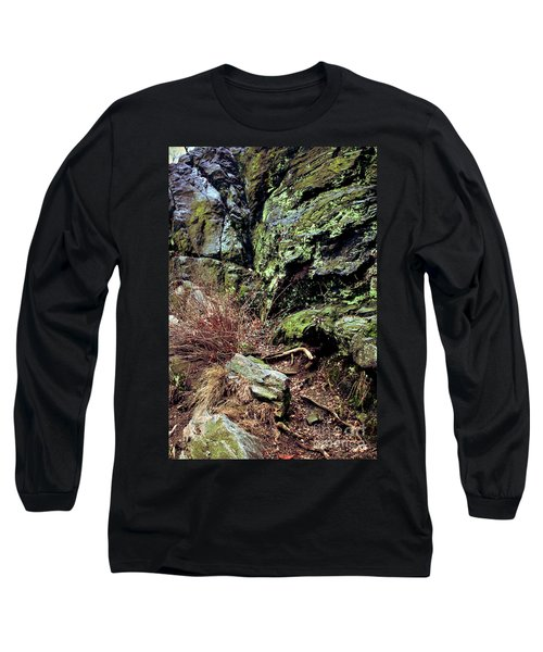 Long Sleeve T-Shirt featuring the photograph Central Park Rock Formation by Sandy Moulder