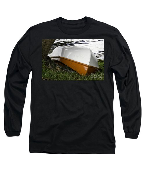 Chained Little Boat Just Waiting Long Sleeve T-Shirt by Yurix Sardinelly