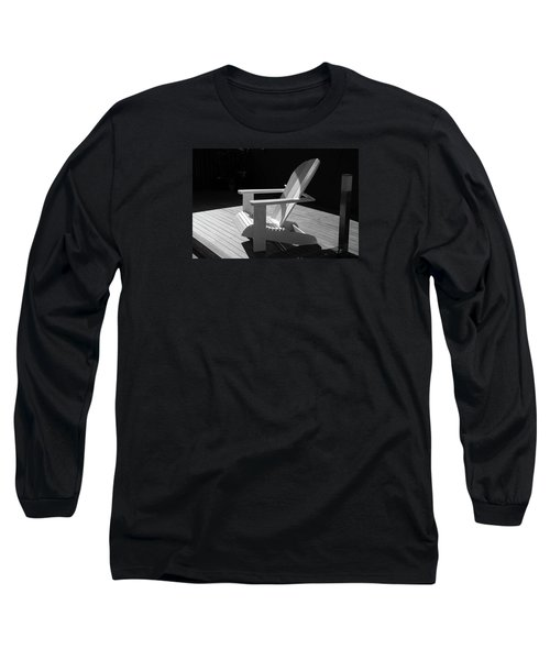 Chair In Black And White Long Sleeve T-Shirt by Nareeta Martin