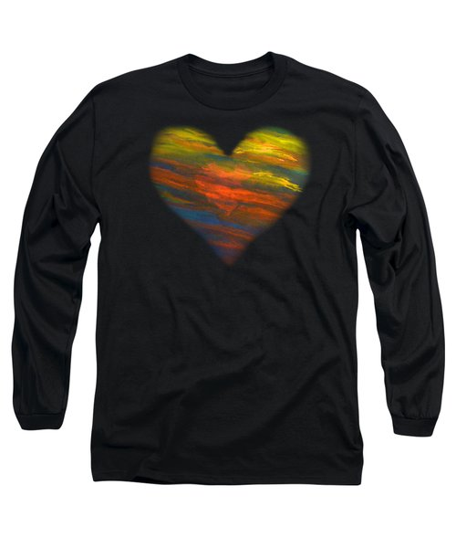 Chakra Energy With Heart Long Sleeve T-Shirt by Deborha Kerr
