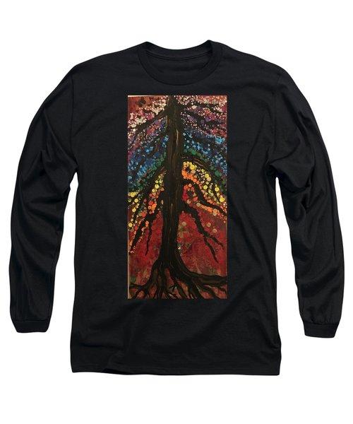 Chakra Tree Long Sleeve T-Shirt