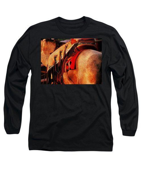 Chaps Long Sleeve T-Shirt by Laddie Halupa