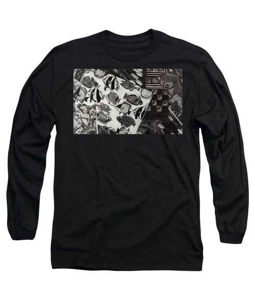 Charcoal Chaos Long Sleeve T-Shirt
