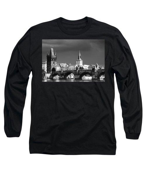 Charles Bridge Prague Czech Republic Long Sleeve T-Shirt