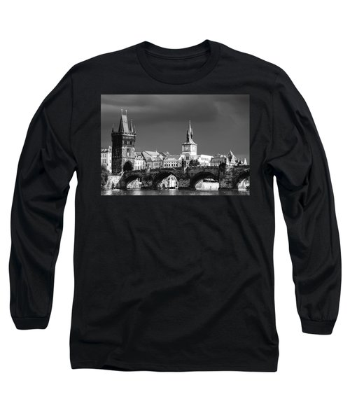 Charles Bridge Prague Czech Republic Long Sleeve T-Shirt