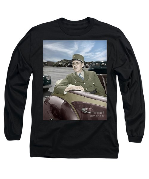 Charles De Gaulle Of France In New York Long Sleeve T-Shirt