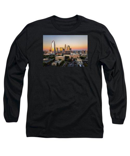 Charlotte Skyline At Sunset Long Sleeve T-Shirt