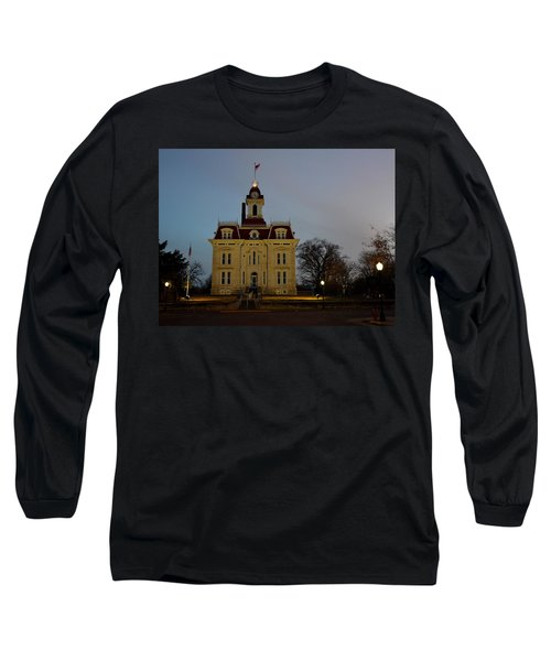 Chase County Courthouse Long Sleeve T-Shirt by Keith Stokes