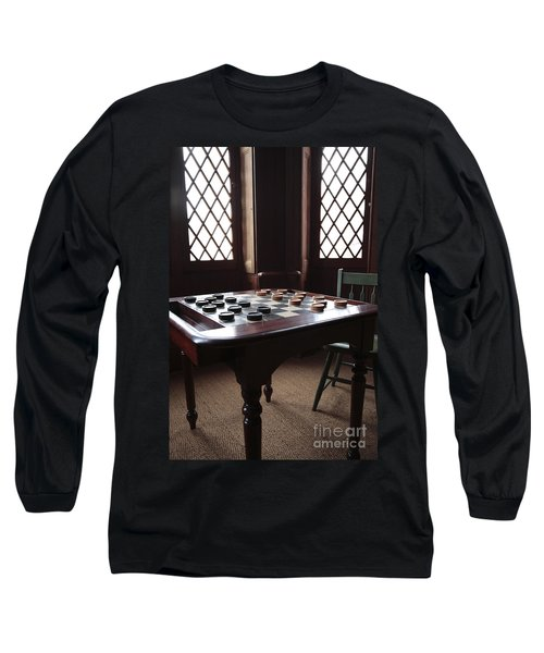 Checkers Table At The Lincoln Cottage In Washington Dc Long Sleeve T-Shirt
