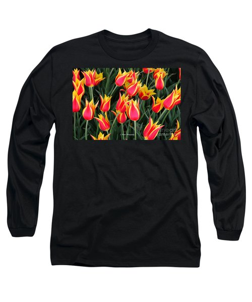Cheerful Spring Tulips Long Sleeve T-Shirt