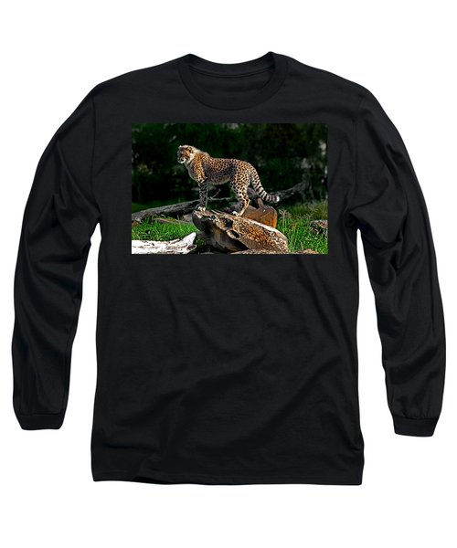 Cheetah Cub Finds Her Pride Rock Long Sleeve T-Shirt
