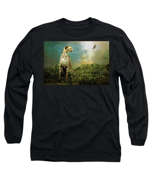 Cheetah Long Sleeve T-Shirt by Diana Boyd