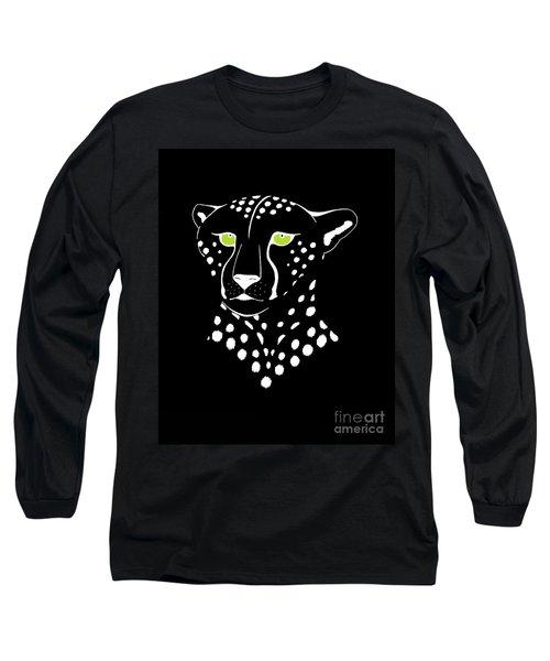 Cheetah Inverted Long Sleeve T-Shirt