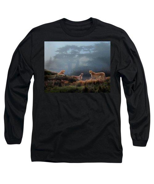 Cheetahs In The Mist Long Sleeve T-Shirt