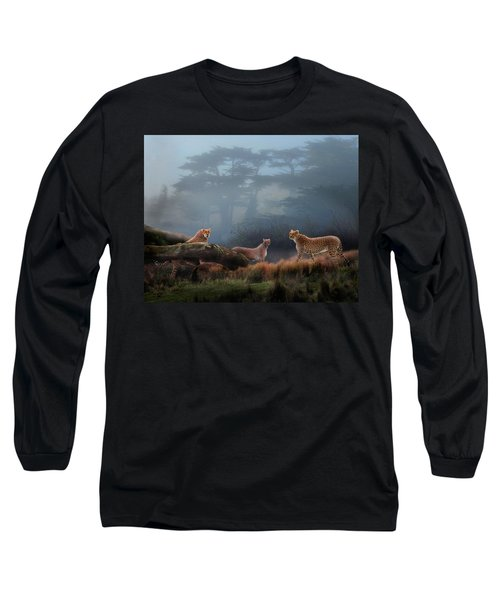 Cheetahs In The Mist Long Sleeve T-Shirt