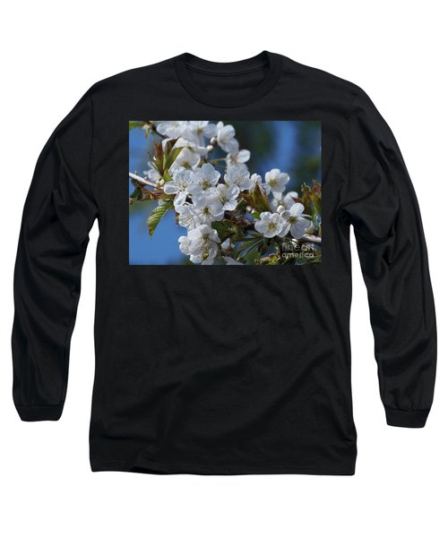 Long Sleeve T-Shirt featuring the photograph Cherry Blossoms by Victor K
