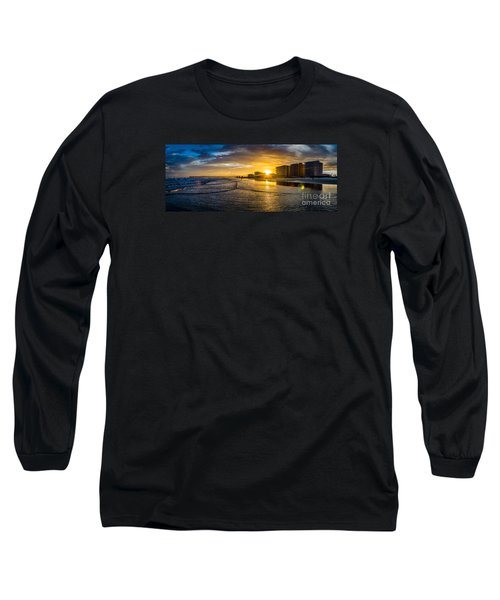 Cherry Grove Sunset Long Sleeve T-Shirt by David Smith