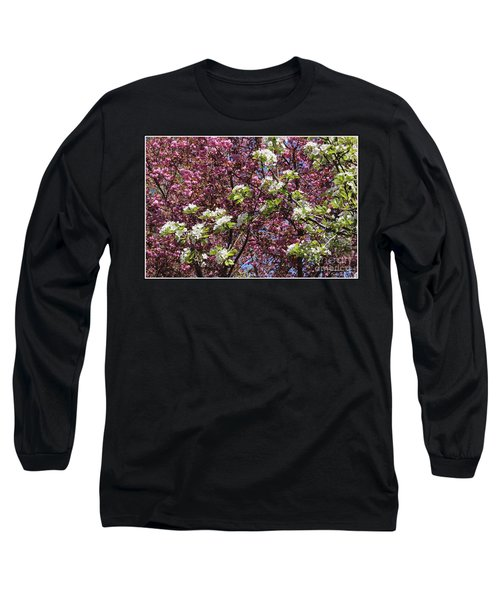 Cherry Tree And Pear Blossoms Long Sleeve T-Shirt