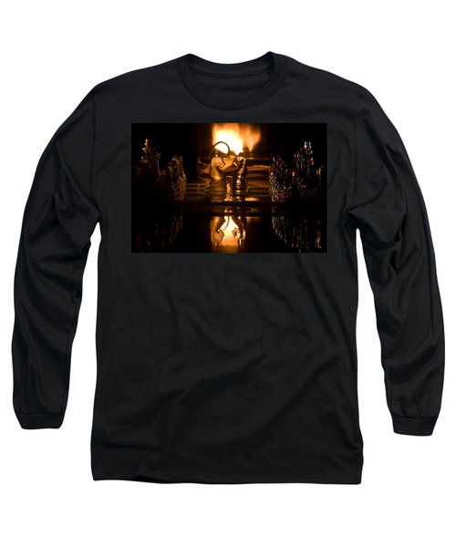 Chess Knights And Flame Long Sleeve T-Shirt