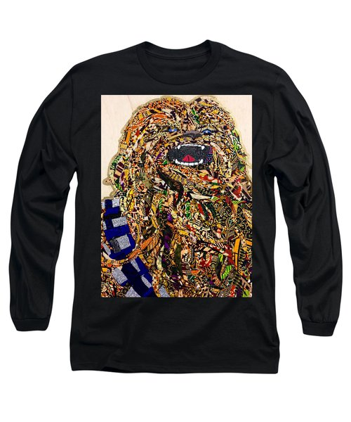 Long Sleeve T-Shirt featuring the tapestry - textile Chewbacca Star Wars Awakens Afrofuturist Collection by Apanaki Temitayo M