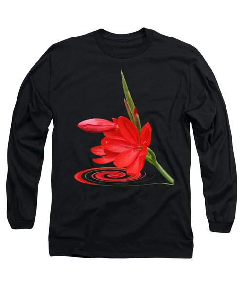 Chic - Ritzy Red Lily Long Sleeve T-Shirt by Gill Billington
