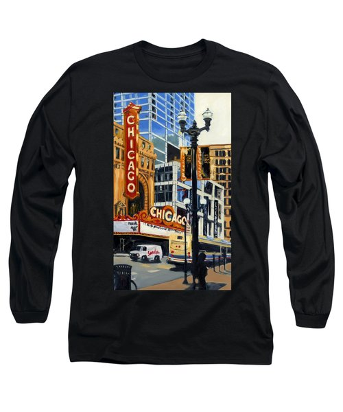Chicago - The Chicago Theater Long Sleeve T-Shirt