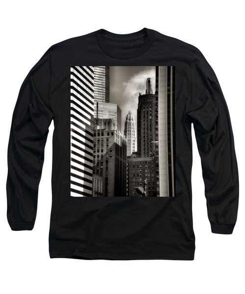 Chicago Architecture - 13 Long Sleeve T-Shirt by Ely Arsha