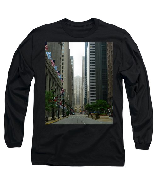 Chicago Architecture - 17 Long Sleeve T-Shirt by Ely Arsha