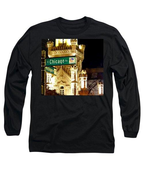 Chicago Avenue  Long Sleeve T-Shirt by Elizabeth Coats