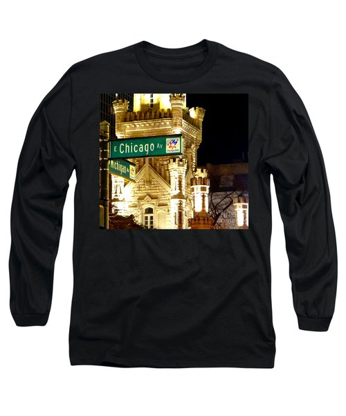 Chicago Avenue  Long Sleeve T-Shirt
