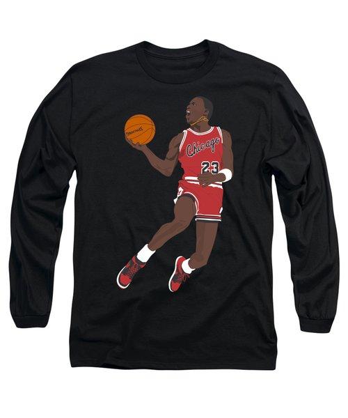 Chicago Bulls - Michael Jordan - 1985 Long Sleeve T-Shirt by Troy Arthur Graphics