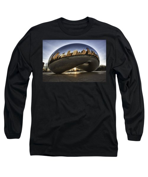 Chicago Cloud Gate At Sunrise Long Sleeve T-Shirt