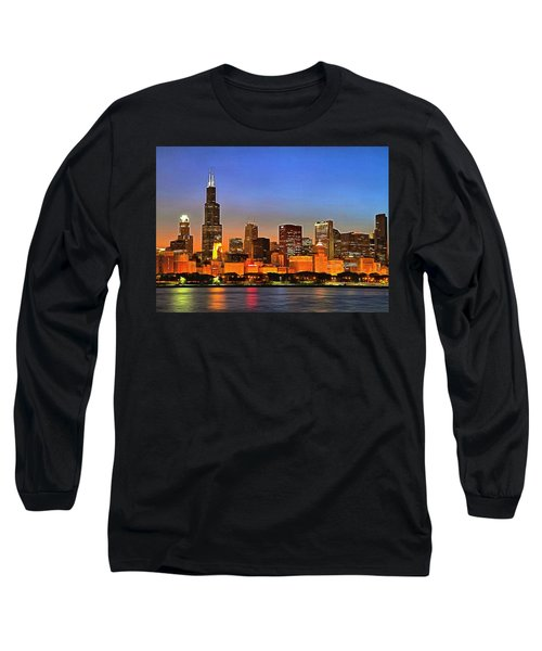 Chicago Dusk Long Sleeve T-Shirt