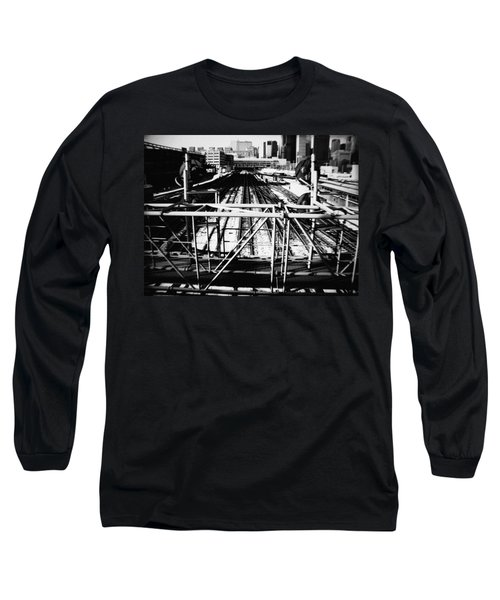Chicago Railroad Yard Long Sleeve T-Shirt by Kyle Hanson