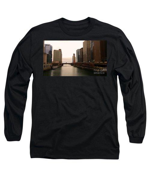Chicago Rive Long Sleeve T-Shirt by Elizabeth Coats