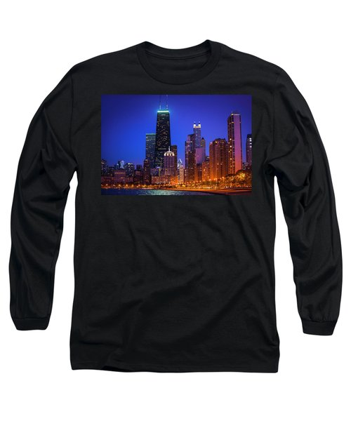 Chicago Shoreline Skyscrapers Long Sleeve T-Shirt