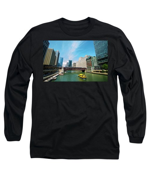 Long Sleeve T-Shirt featuring the photograph Chicago, That Toddlin' Town by Deborah Smolinske