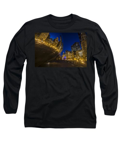 Chicago's Millenium Park At Dusk Long Sleeve T-Shirt