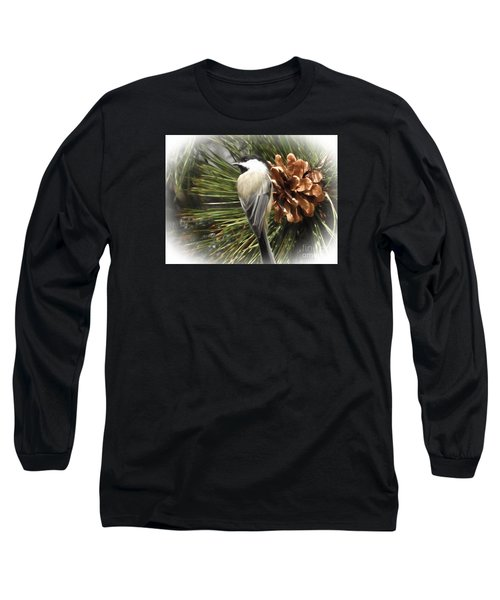 Chickadee Long Sleeve T-Shirt by Suzanne Handel