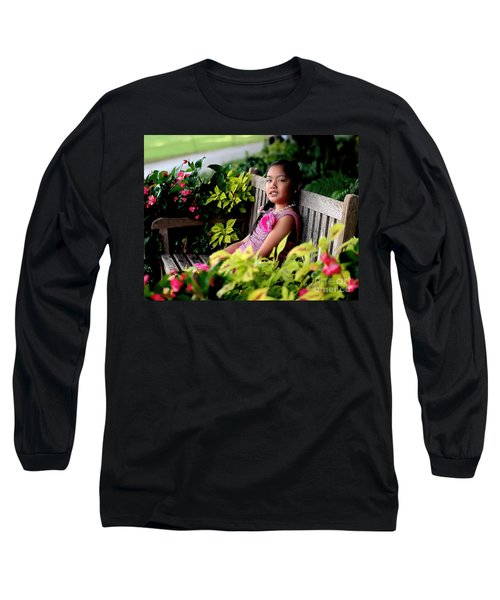 Long Sleeve T-Shirt featuring the photograph Children by Diana Mary Sharpton