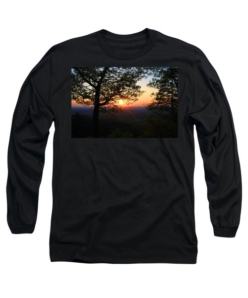 Long Sleeve T-Shirt featuring the photograph Chilhowee Sunset by Kathryn Meyer