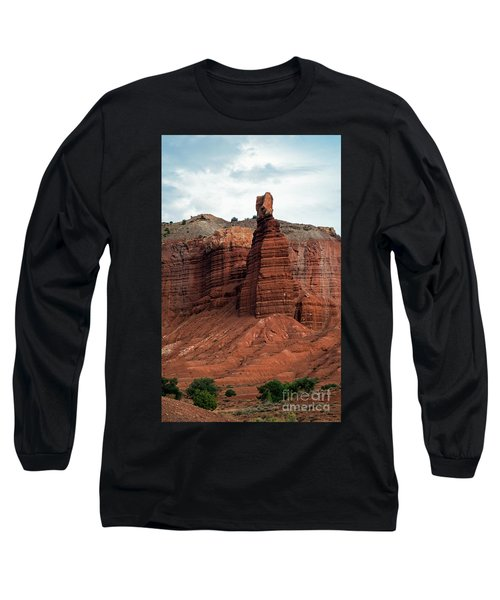 Chimney Rock In Capital Reef Long Sleeve T-Shirt