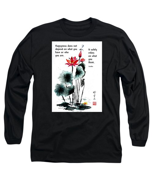 China Garden With Buddha Quote Long Sleeve T-Shirt