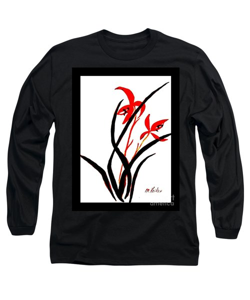 Chinese Flowers Long Sleeve T-Shirt