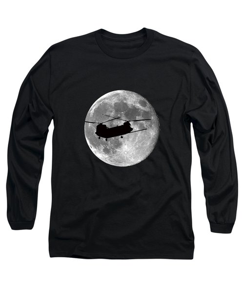 Chinook Moon .png Long Sleeve T-Shirt by Al Powell Photography USA